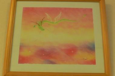 10月ロビー展は「龍と波動バラのアート展」
